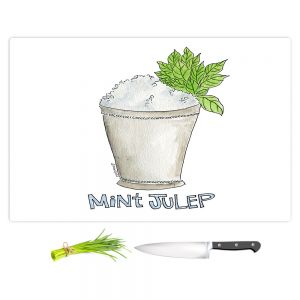 Artistic Kitchen Bar Cutting Boards | Marley Ungaro - Cocktails Mint Julep | Water color still life class drink alcohol