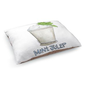 Decorative Dog Pet Beds | Marley Ungaro - Cocktails Mint Julep | Water color still life class drink alcohol