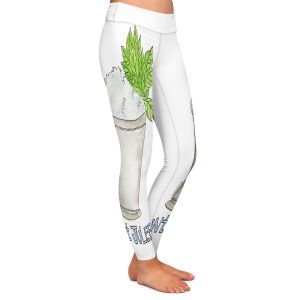 Casual Comfortable Leggings | Marley Ungaro - Cocktails Mint Julep | Water color still life class drink alcohol