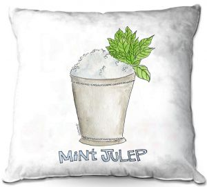Throw Pillows Decorative Artistic | Marley Ungaro - Cocktails Mint Julep | Water color still life class drink alcohol
