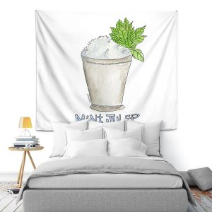 Artistic Wall Tapestry | Marley Ungaro - Cocktails Mint Julep | Water color still life class drink alcohol