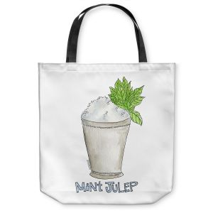 Unique Shoulder Bag Tote Bags | Marley Ungaro - Cocktails Mint Julep | Water color still life class drink alcohol
