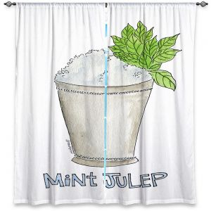 Decorative Window Treatments | Marley Ungaro - Cocktails Mint Julep | Water color still life class drink alcohol
