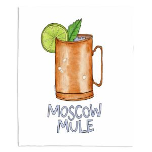 Decorative Fleece Throw Blankets | Marley Ungaro - Cocktails Moscow Mule | Mixed Drink