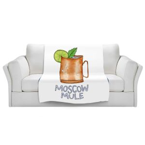 Artistic Sherpa Pile Blankets | Marley Ungaro - Cocktails Moscow Mule | Mixed Drink