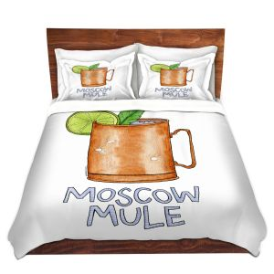 Artistic Duvet Covers and Shams Bedding | Marley Ungaro - Cocktails Moscow Mule | Mixed Drink