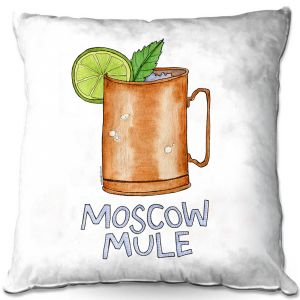 Throw Pillows Decorative Artistic | Marley Ungaro - Cocktails Moscow Mule | Mixed Drink