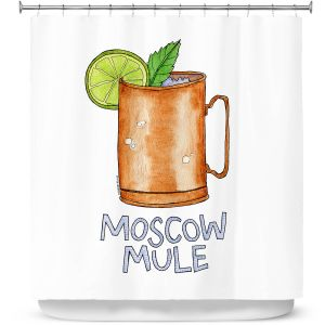 Premium Shower Curtains | Marley Ungaro - Cocktails Moscow Mule | Mixed Drink