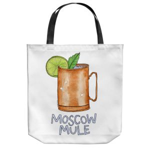 Unique Shoulder Bag Tote Bags | Marley Ungaro - Cocktails Moscow Mule | Mixed Drink