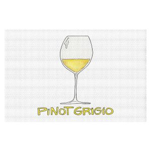 Decorative Floor Covering Mats | Marley Ungaro - Cocktails Pinot Grigio | Wine Glass