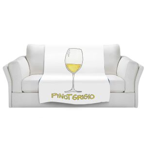 Artistic Sherpa Pile Blankets | Marley Ungaro - Cocktails Pinot Grigio | Wine Glass