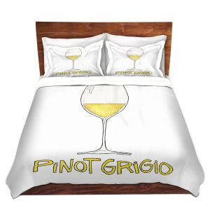 Artistic Duvet Covers and Shams Bedding | Marley Ungaro - Cocktails Pinot Grigio | Wine Glass