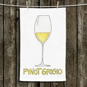 Unique Hanging Tea Towels | Marley Ungaro - Cocktails Pinot Grigio | Wine Glass