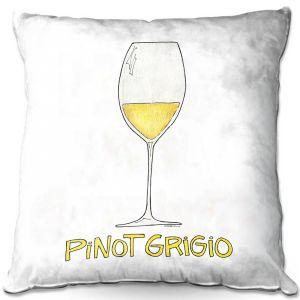 Throw Pillows Decorative Artistic | Marley Ungaro - Cocktails Pinot Grigio | Wine Glass