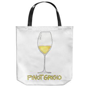 Unique Shoulder Bag Tote Bags | Marley Ungaro - Cocktails Pinot Grigio | Wine Glass