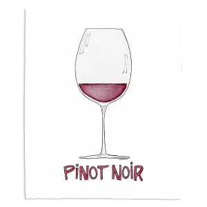 Decorative Fleece Throw Blankets | Marley Ungaro - Cocktails Pinot Noir | Wine Glass