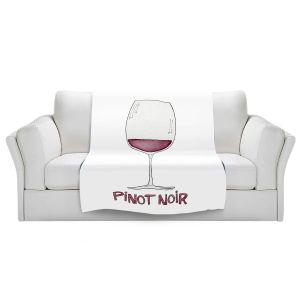 Artistic Sherpa Pile Blankets | Marley Ungaro - Cocktails Pinot Noir | Wine Glass