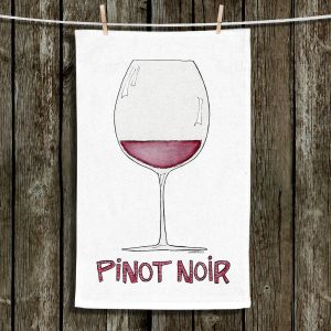 Unique Hanging Tea Towels | Marley Ungaro - Cocktails Pinot Noir | Wine Glass