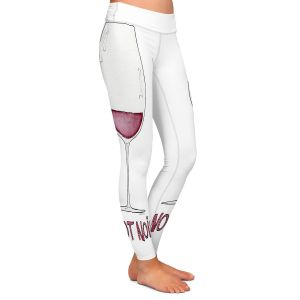 Casual Comfortable Leggings | Marley Ungaro - Cocktails Pinot Noir | Wine Glass