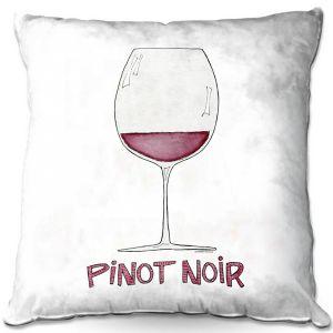 Throw Pillows Decorative Artistic | Marley Ungaro - Cocktails Pinot Noir | Wine Glass