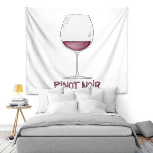 Artistic Wall Tapestry | Marley Ungaro - Cocktails Pinot Noir | Wine Glass