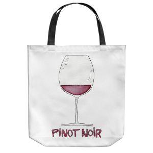 Unique Shoulder Bag Tote Bags | Marley Ungaro - Cocktails Pinot Noir | Wine Glass