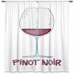 Decorative Window Treatments | Marley Ungaro - Cocktails Pinot Noir | Wine Glass