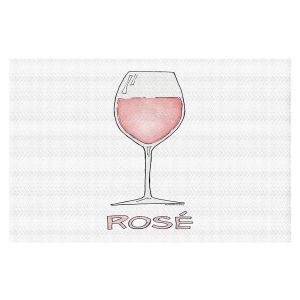 Decorative Floor Covering Mats | Marley Ungaro - Cocktails Rose Wine | Wine Glass