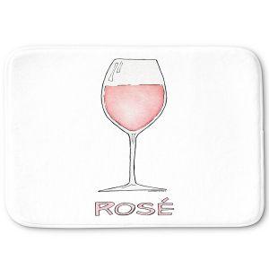 Decorative Bathroom Mats   Marley Ungaro - Cocktails Rose Wine   Wine Glass