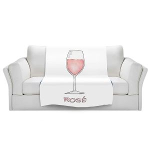 Artistic Sherpa Pile Blankets | Marley Ungaro - Cocktails Rose Wine | Wine Glass