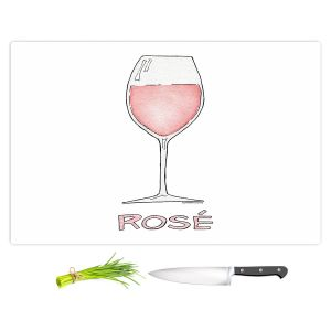 Artistic Kitchen Bar Cutting Boards | Marley Ungaro - Cocktails Rose Wine | Wine Glass