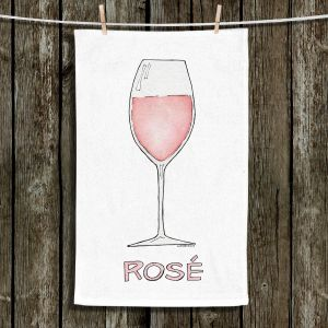 Unique Bathroom Towels | Marley Ungaro - Cocktails Rose Wine | Wine Glass