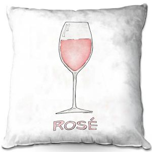 Throw Pillows Decorative Artistic | Marley Ungaro - Cocktails Rose Wine | Wine Glass