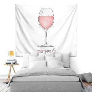 Artistic Wall Tapestry | Marley Ungaro - Cocktails Rose Wine | Wine Glass