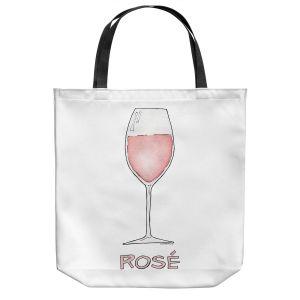 Unique Shoulder Bag Tote Bags | Marley Ungaro - Cocktails Rose Wine | Wine Glass
