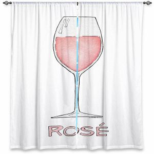 Decorative Window Treatments | Marley Ungaro - Cocktails Rose Wine | Wine Glass