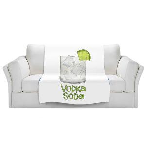 Artistic Sherpa Pile Blankets | Marley Ungaro - Cocktails Vodka Soda | Mixed Drink