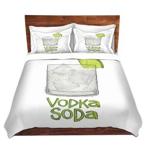 Artistic Duvet Covers and Shams Bedding | Marley Ungaro - Cocktails Vodka Soda | Mixed Drink