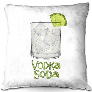 Throw Pillows Decorative Artistic | Marley Ungaro - Cocktails Vodka Soda | Mixed Drink