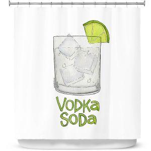 Premium Shower Curtains | Marley Ungaro - Cocktails Vodka Soda | Mixed Drink