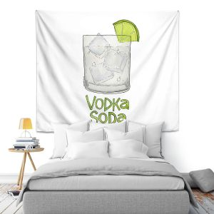 Artistic Wall Tapestry | Marley Ungaro - Cocktails Vodka Soda | Mixed Drink