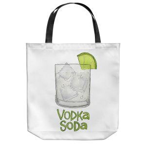 Unique Shoulder Bag Tote Bags | Marley Ungaro - Cocktails Vodka Soda | Mixed Drink