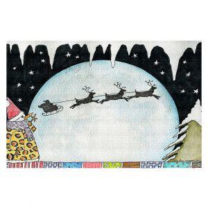 Decorative Floor Covering Mats   Marley Ungaro - Cold Moon 2   Holidays christmas xmas santa claus reindeer sleigh