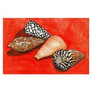 Decorative Floor Covering Mats | Marley Ungaro - Cone Shells | Ocean seashell still life nature