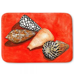 Decorative Bathroom Mats | Marley Ungaro - Cone Shells | Ocean seashell still life nature