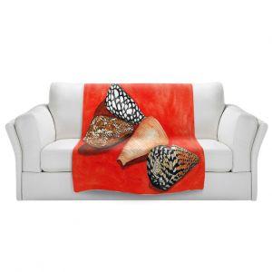 Artistic Sherpa Pile Blankets | Marley Ungaro - Cone Shells | Ocean seashell still life nature