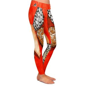 Casual Comfortable Leggings | Marley Ungaro - Cone Shells | Ocean seashell still life nature