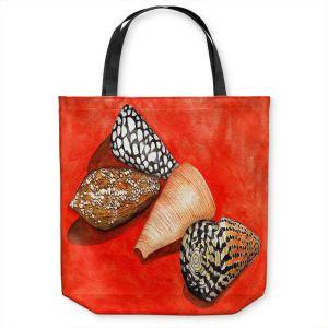 Unique Shoulder Bag Tote Bags | Marley Ungaro - Cone Shells | Ocean seashell still life nature
