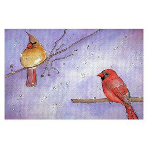 Decorative Floor Covering Mats   Marley Ungaro - Cordial Cardinals   Bird nature branch winter