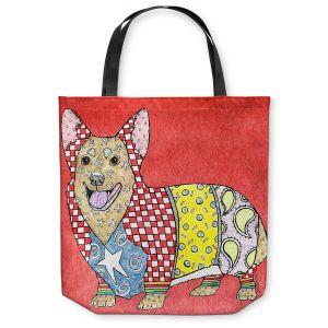 Unique Shoulder Bag Tote Bags | Marley Ungaro - Corgi Dog Watermelon